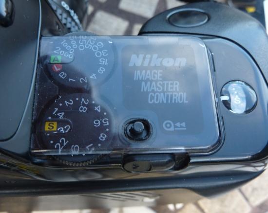 Nikon F-401 control panel