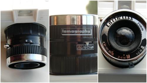 Diana F+ lens detail
