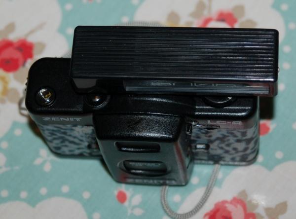 Blik rangefinder on a Lomo LC-A