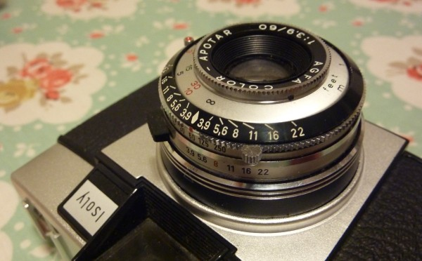 Agfa Isoly III setting close up