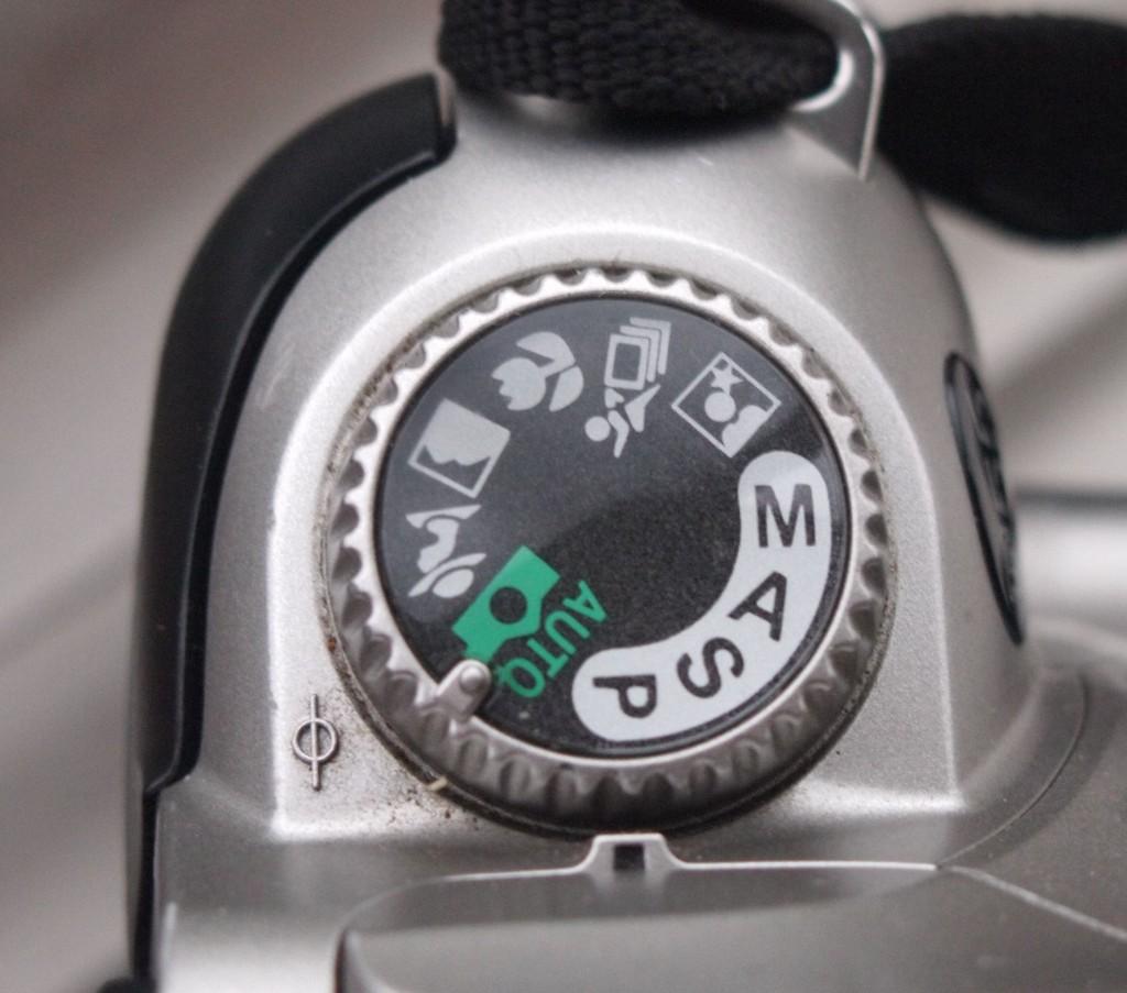 Exposure dial of Nikon F55