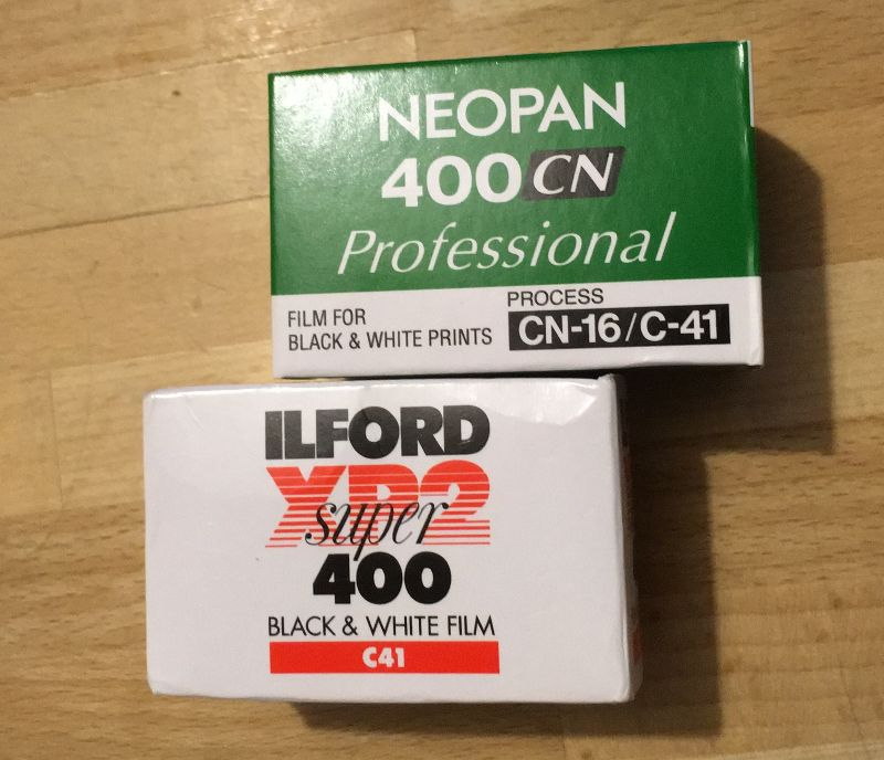 Fujifilm Neopan 400CN & Ilford XP2