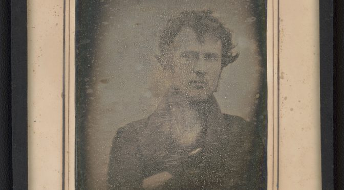 A brief History of Photography by Objects – 1 –  A self portrait of a Man 1839