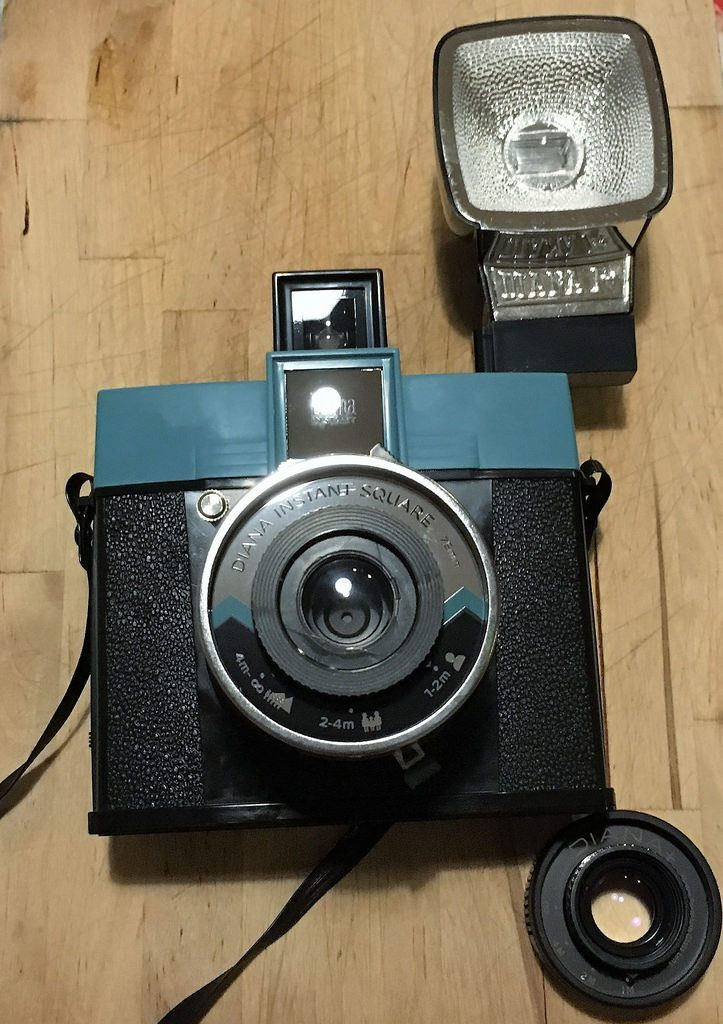 Lomography Diana Instant Square with Diana F+ flash