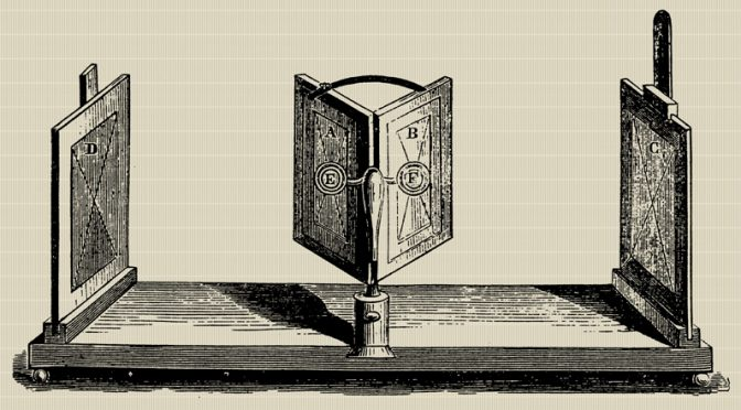 History of Photography By Objects – 10 – Engraving Of a Device For showing Drawings Mid 1800's