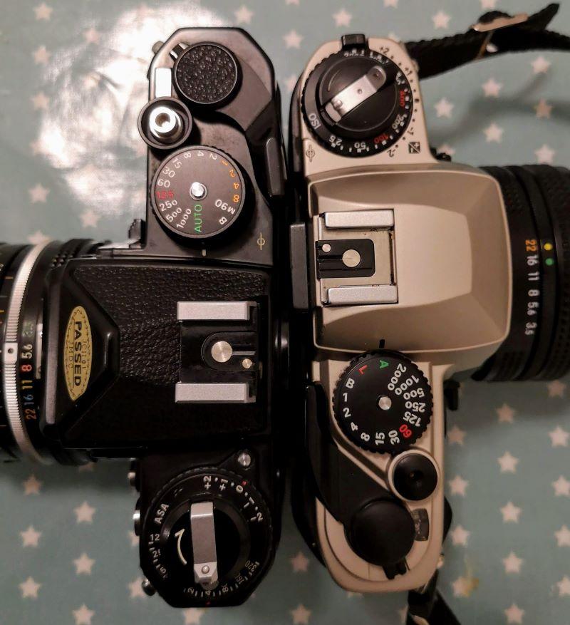 Nikon FE (L) & Nikon FE10 (R)
