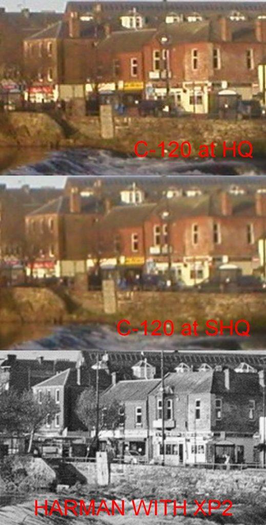 Comparison shot of C-120 Zoomed in v Harman camera