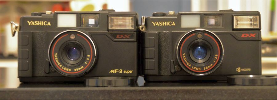 New (L) and Old (R) Versions of Yashica MF-2 Super