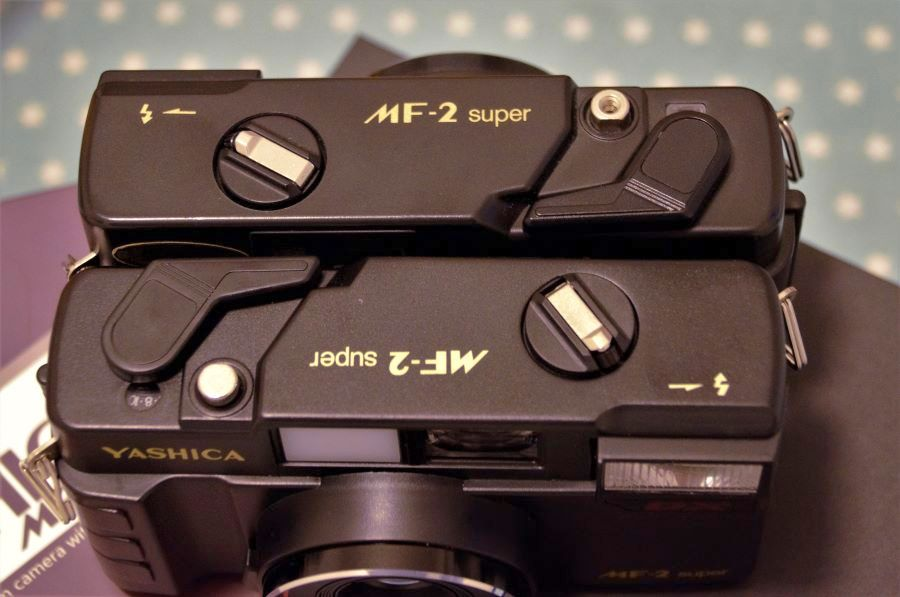 Top Plates of both versions of Yashica MF-2 Super