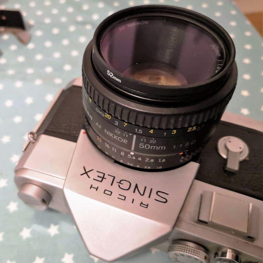 Ricoh Singlex with Nikkor 50mm 1:1.8 AF-D