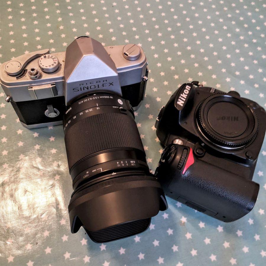 Ricoh Singlex with a 18-300mm Sigma AF-S DX lens