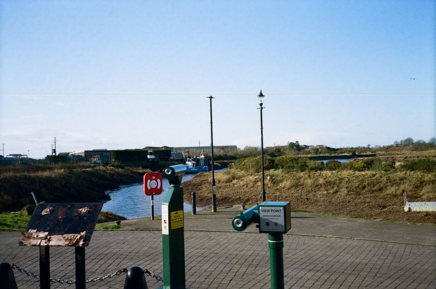 New Yashica MF-2 with Kodak Colorplus 200. Annan Harbour 2020
