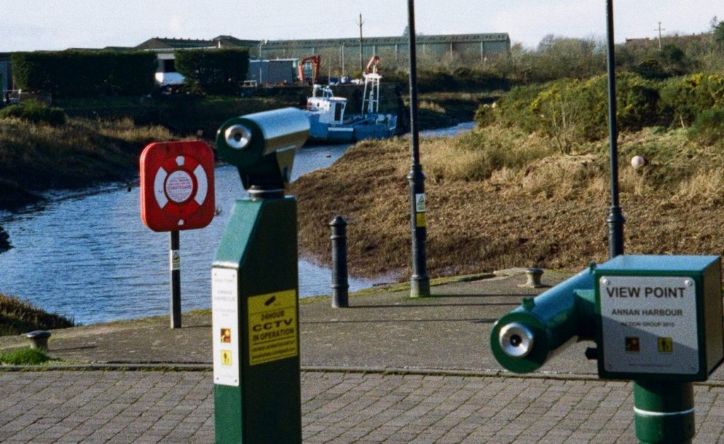 Crop of above shot. New Yashica MF-2 with Kodak Colorplus 200. Annan Harbour 2020