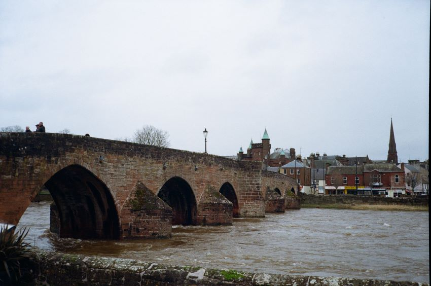 Devorgilla Bridge. New Yashica MF-2 with Kodak Colorplus 200 Dumfries 2020