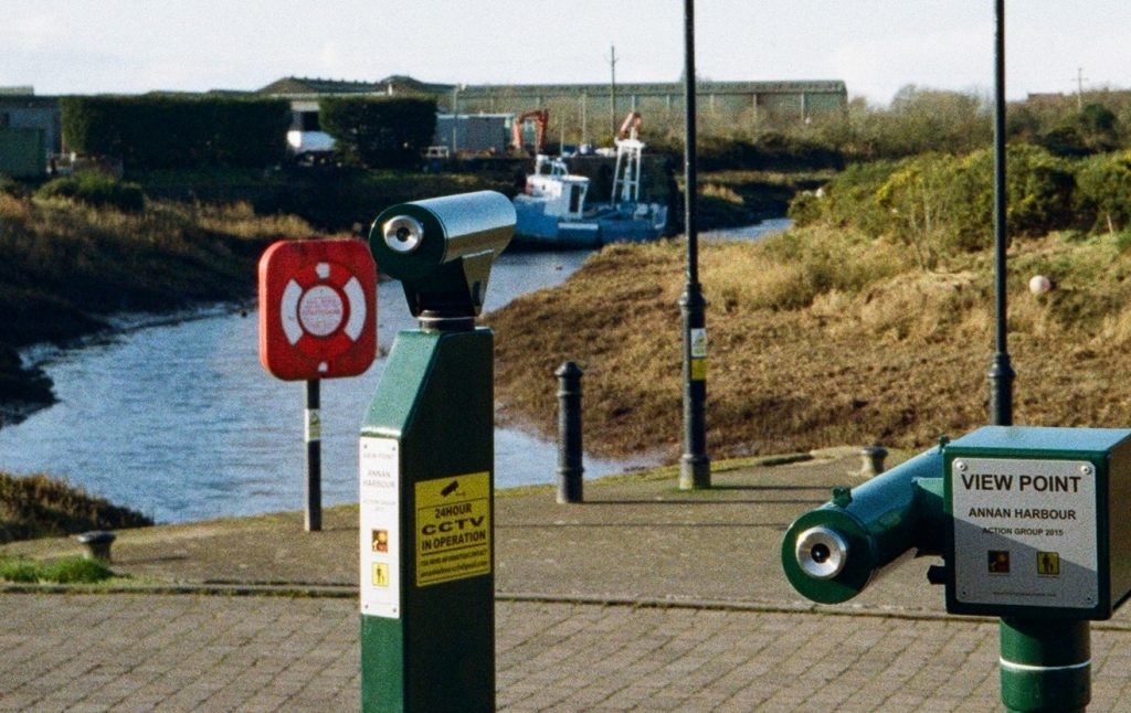 Crop of above shot. Original Yashica MF-2 Super with Kodak Colorplus 200. Annan Harbour 2020