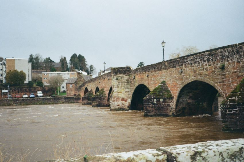 Devorgilla Bridge. Original Yashica MF-2 Super with Kodak Colorplus 200 Dumfries 2020