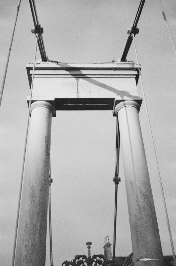 Suspension Bridge. New Yashica MF-2 with Kodak BW400CN (expired 2014). Dumfries 2020