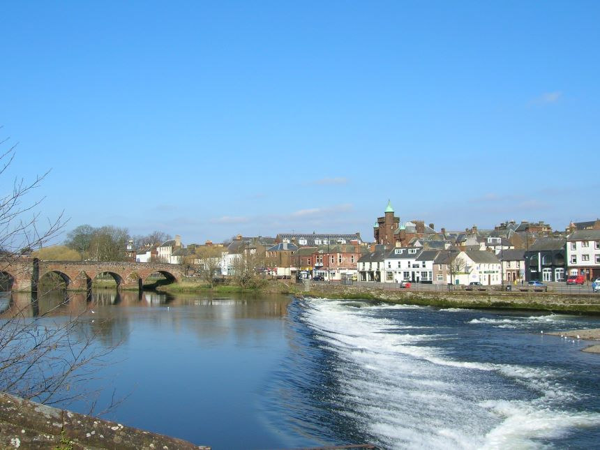 River Nith on Coolpix 5600