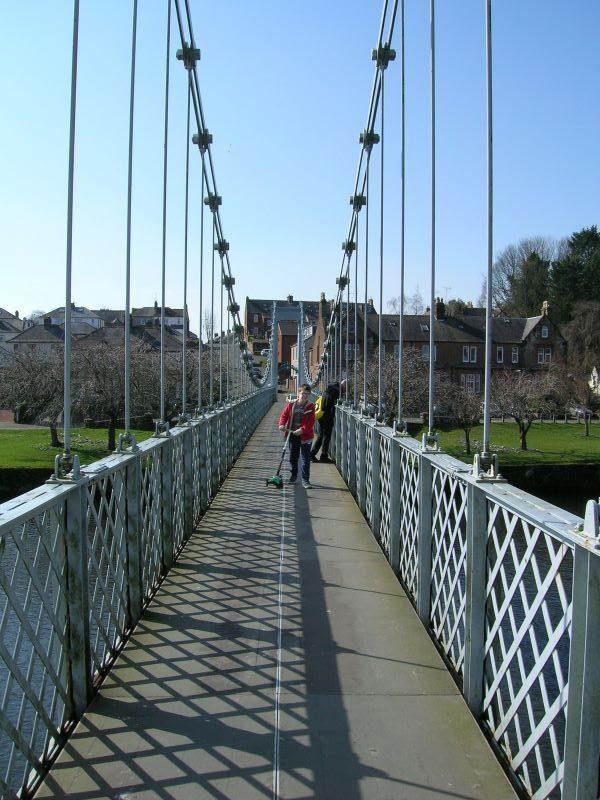 Suspension Bridge, March 2020, Dumfries. Nikon Coolpix 5600