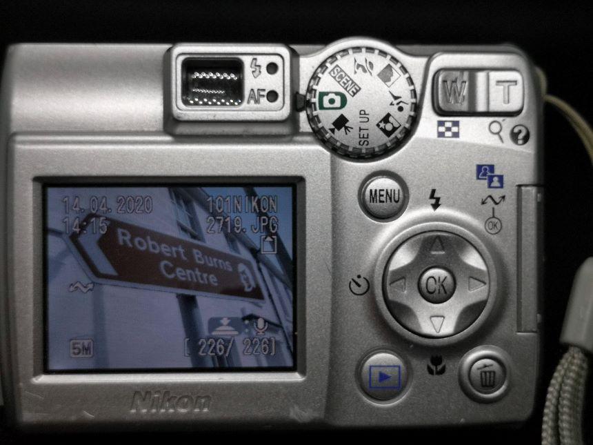 Rear Of Nikon Coolpix 5600