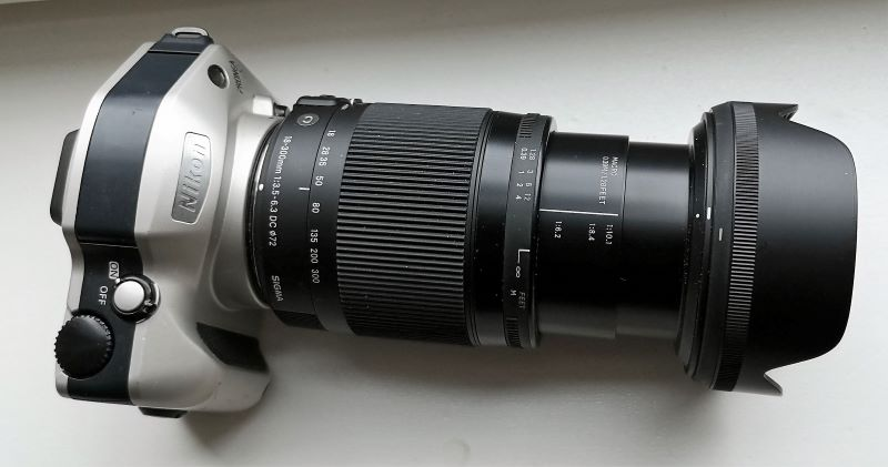 Nikon Pronea S with a Sigma 18-300mm F3.5-6.3 DC MACRO OS HSM