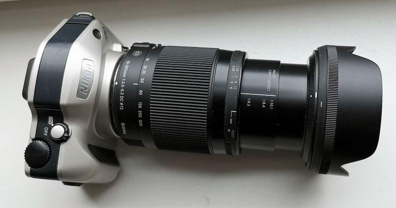 Nikon Pronea S with a Sigma 18-300mm F3.5-6.3 DC MACRO OS HSM