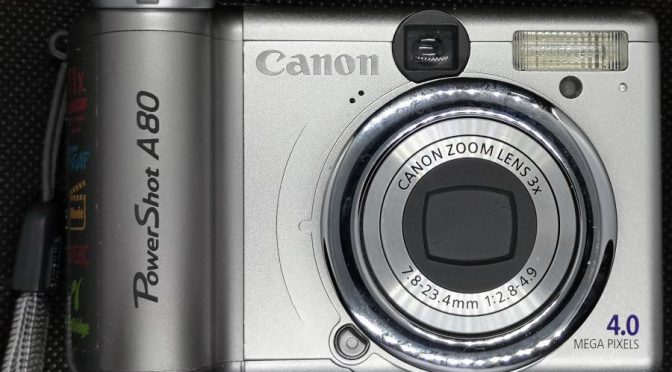 Go Go Budget Digital No 3 – Canon Power Shot A80
