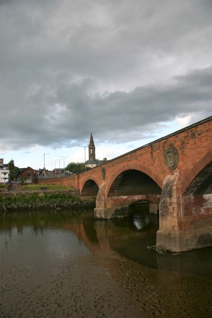 St Michael's Bridge Dumfries. June 2020. Some tweaks in post