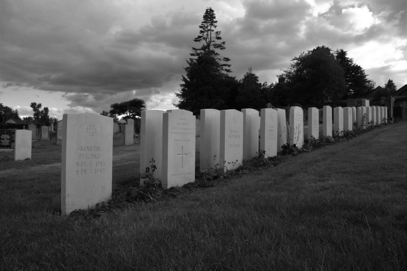 War graves in Troqueer cemetery, Dumfries June 2020