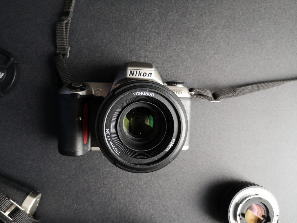 Yongnuo YN50mm F1.8N happily on a Nikon  F65