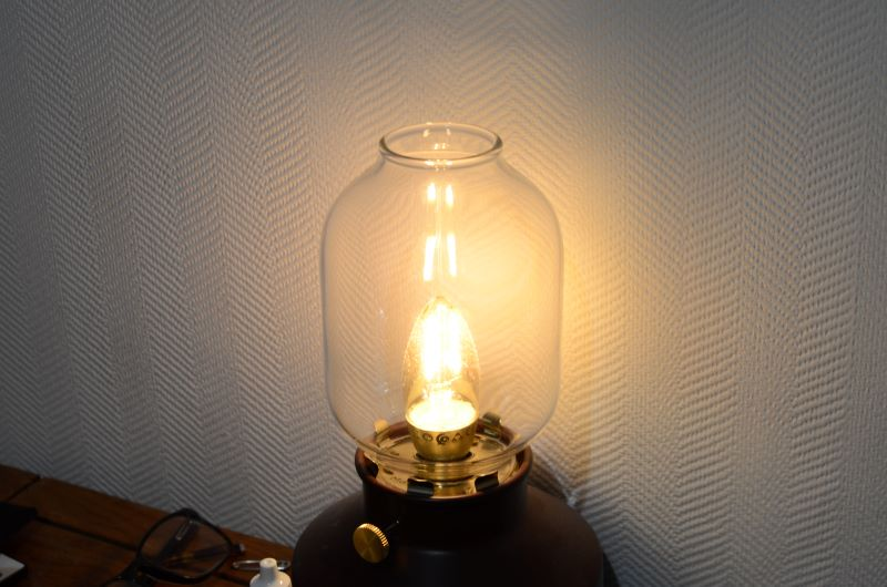 Image of lamp taken on setting suggested by meters and my Brain
