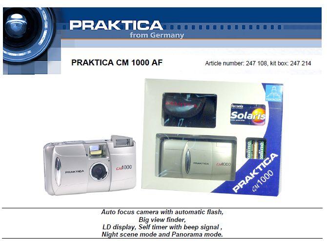 From Praktica.de marketing/press release for CM 1000