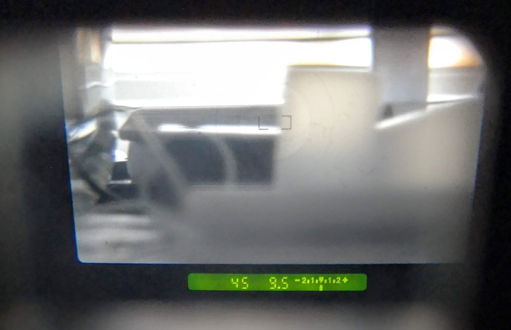 view through 1000F viewfinder