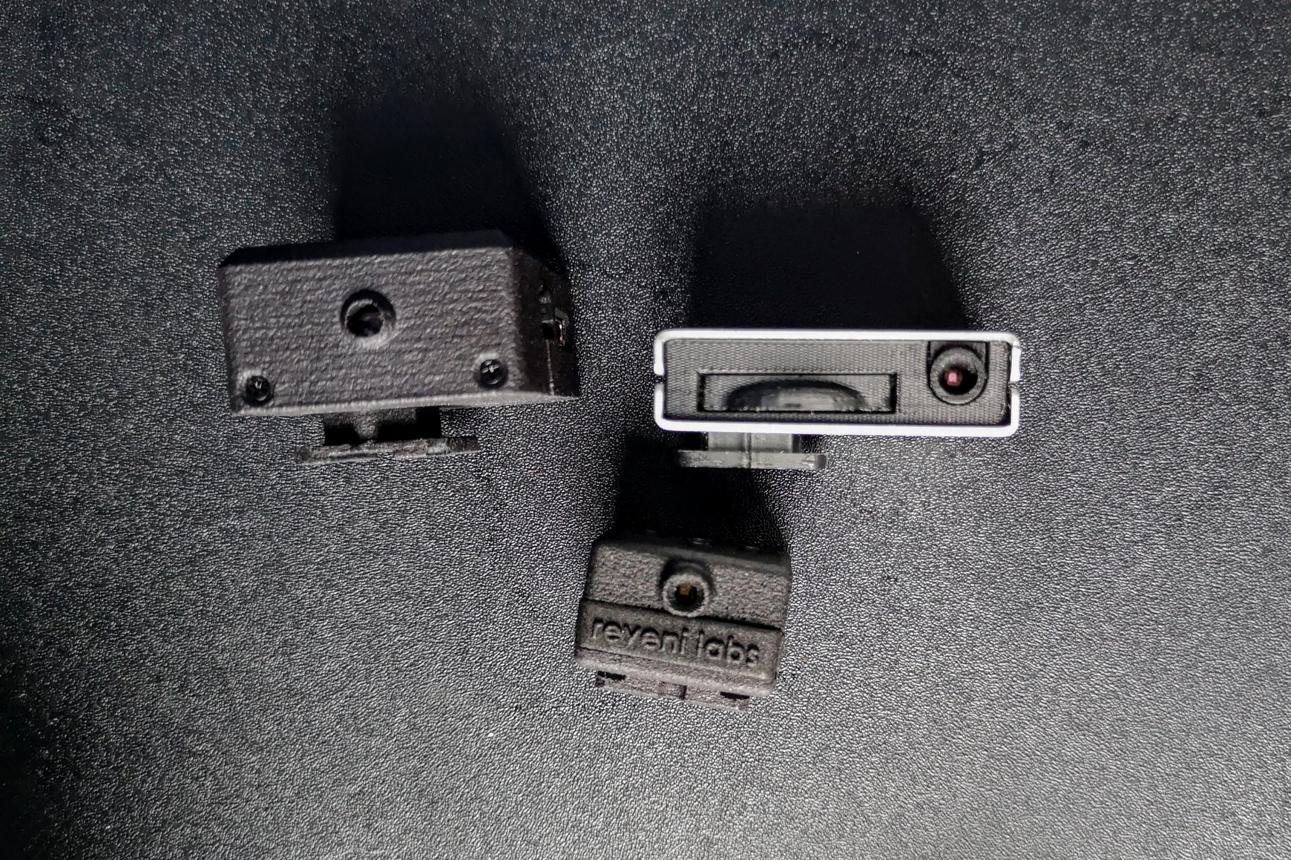 The front ends of the Reveni (bottom), V-201X (l) and Lime One (r)
