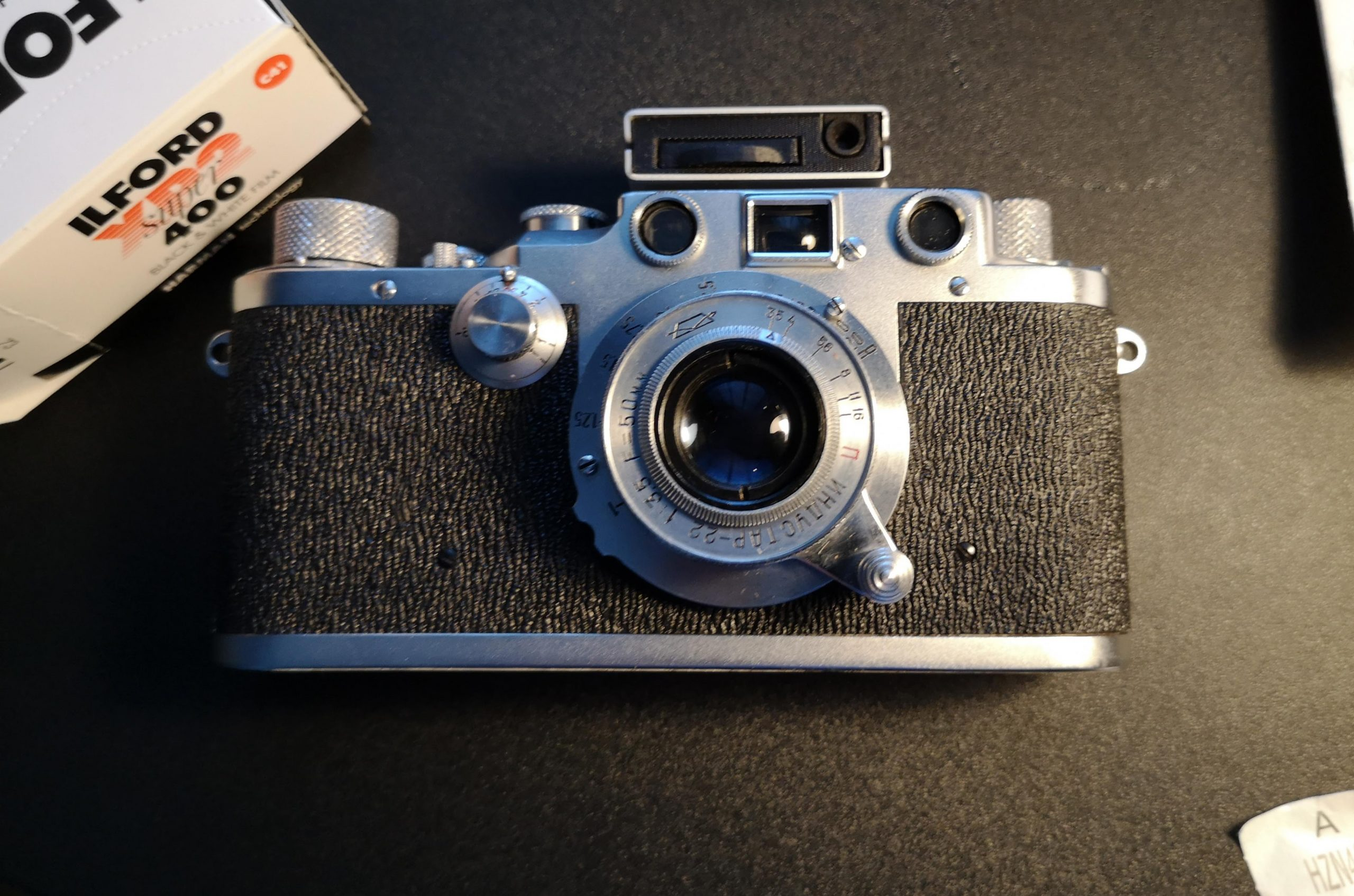 Hedeco Lime One mounted on a Leica IIIc