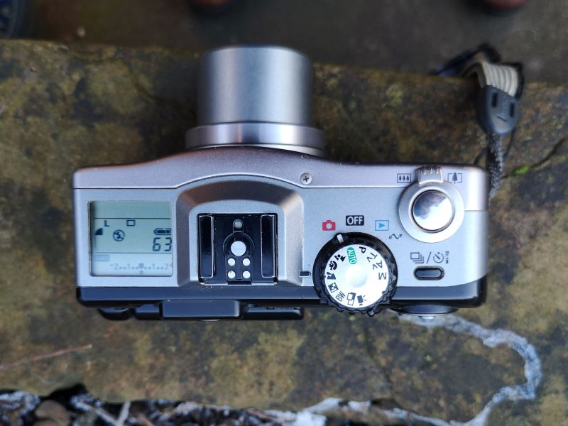 Top plate View of PowerShot G1