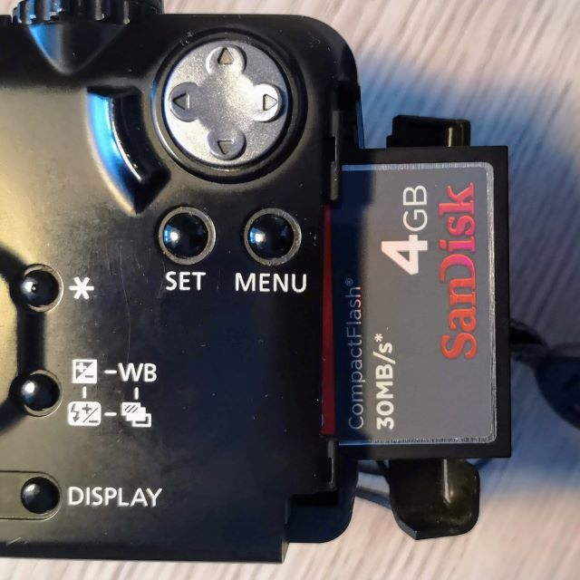 The PowerShot G1can use bigger volume cards like this but as camera uses FAT system they can only be formatted to 2GB
