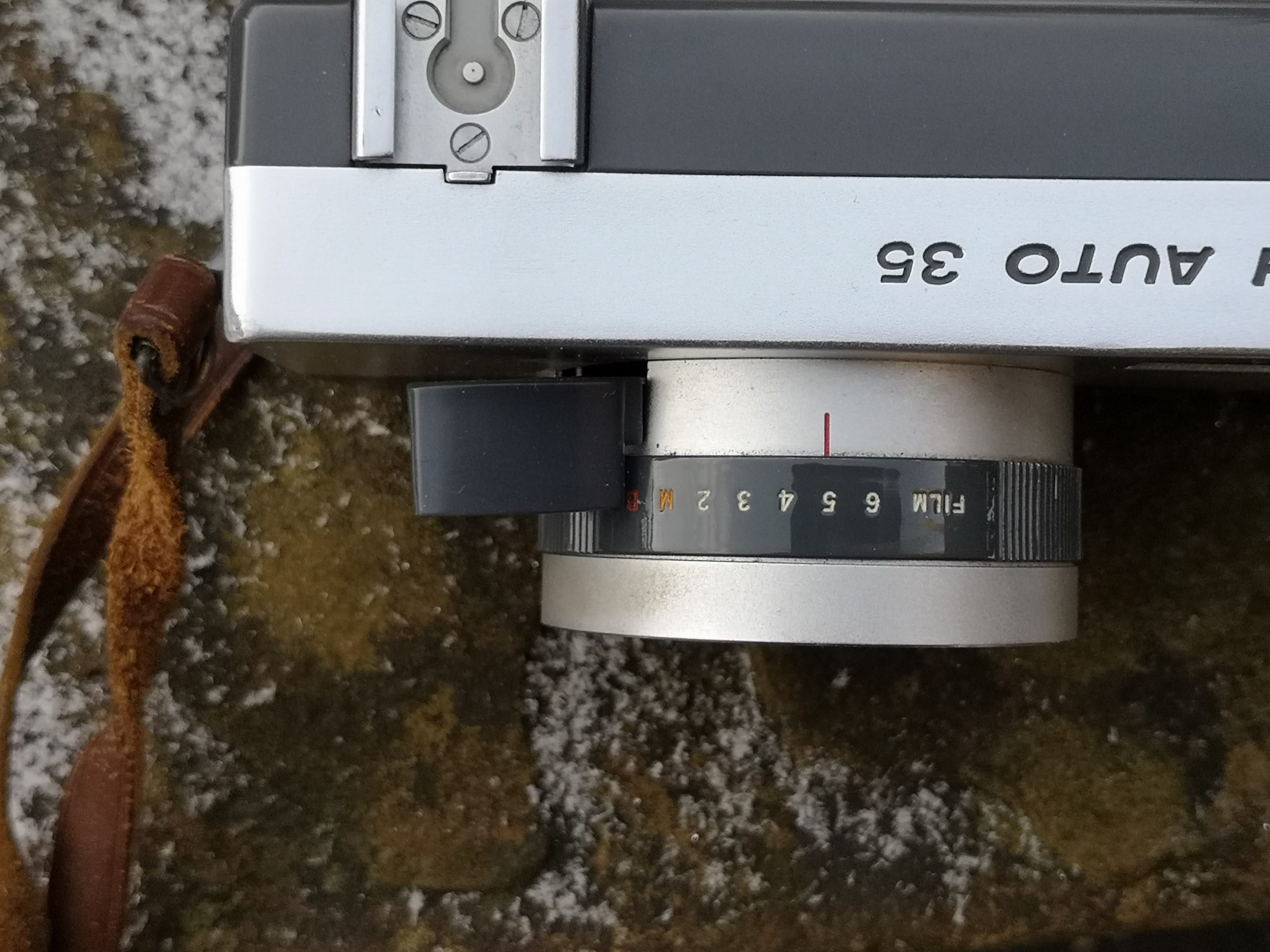 Film speed dial on Ricoh Auto 35