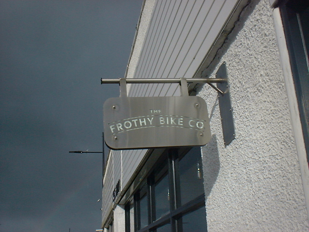 The Frothy Bike Co. Sign