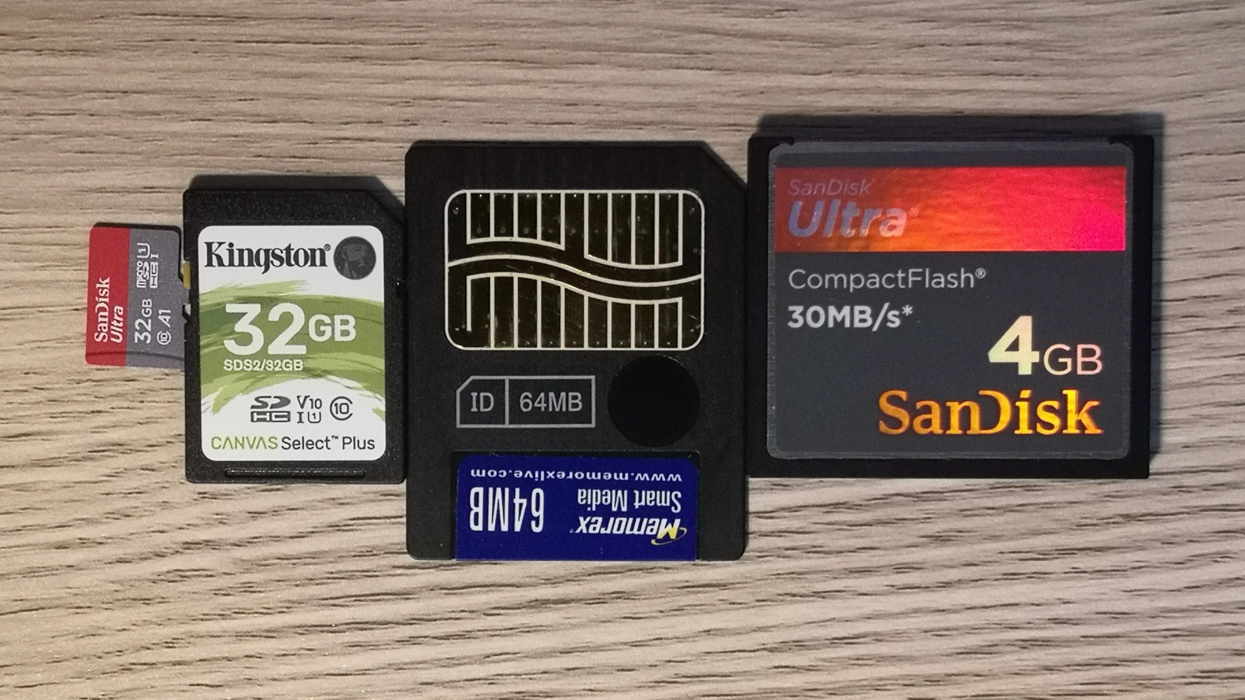Various digital media cards