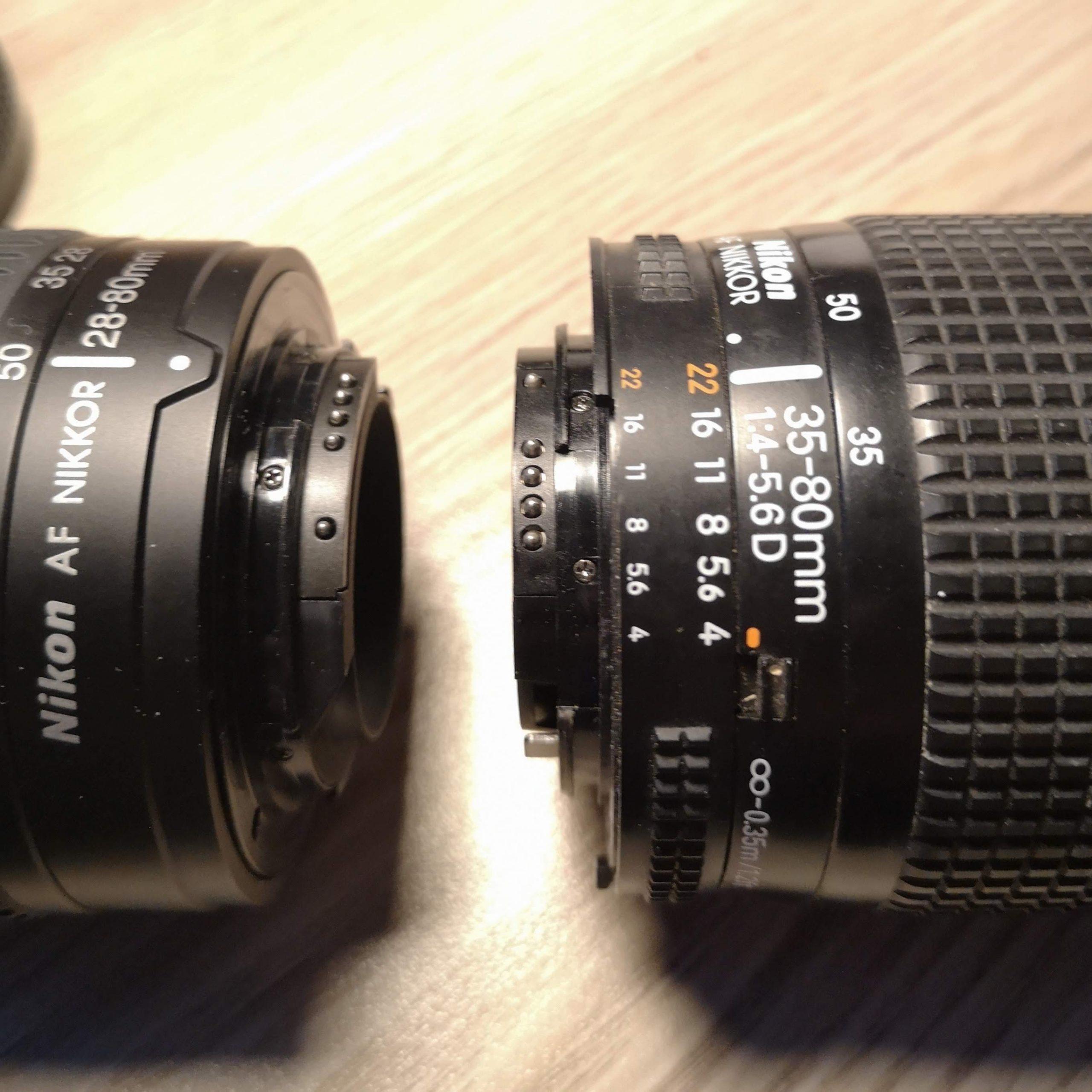 Nikon AF-D G and non non G lenses
