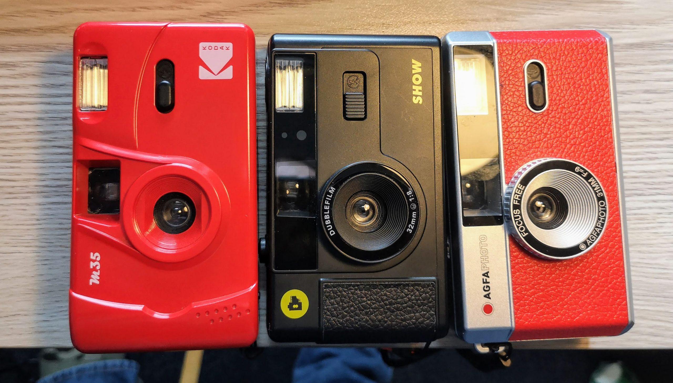 Kodak M35, Dubblefilm Show & Agfaphoto Analogue (l-r)