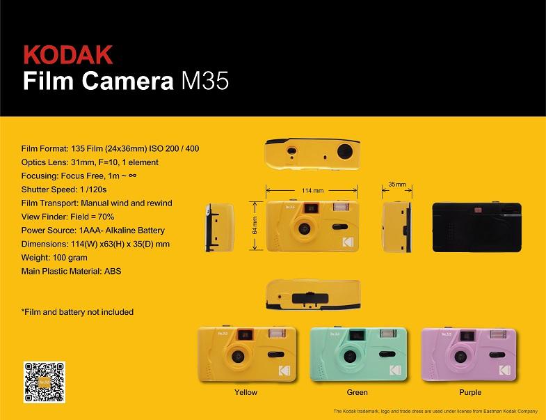 Kodak M35 promotional tech sheet