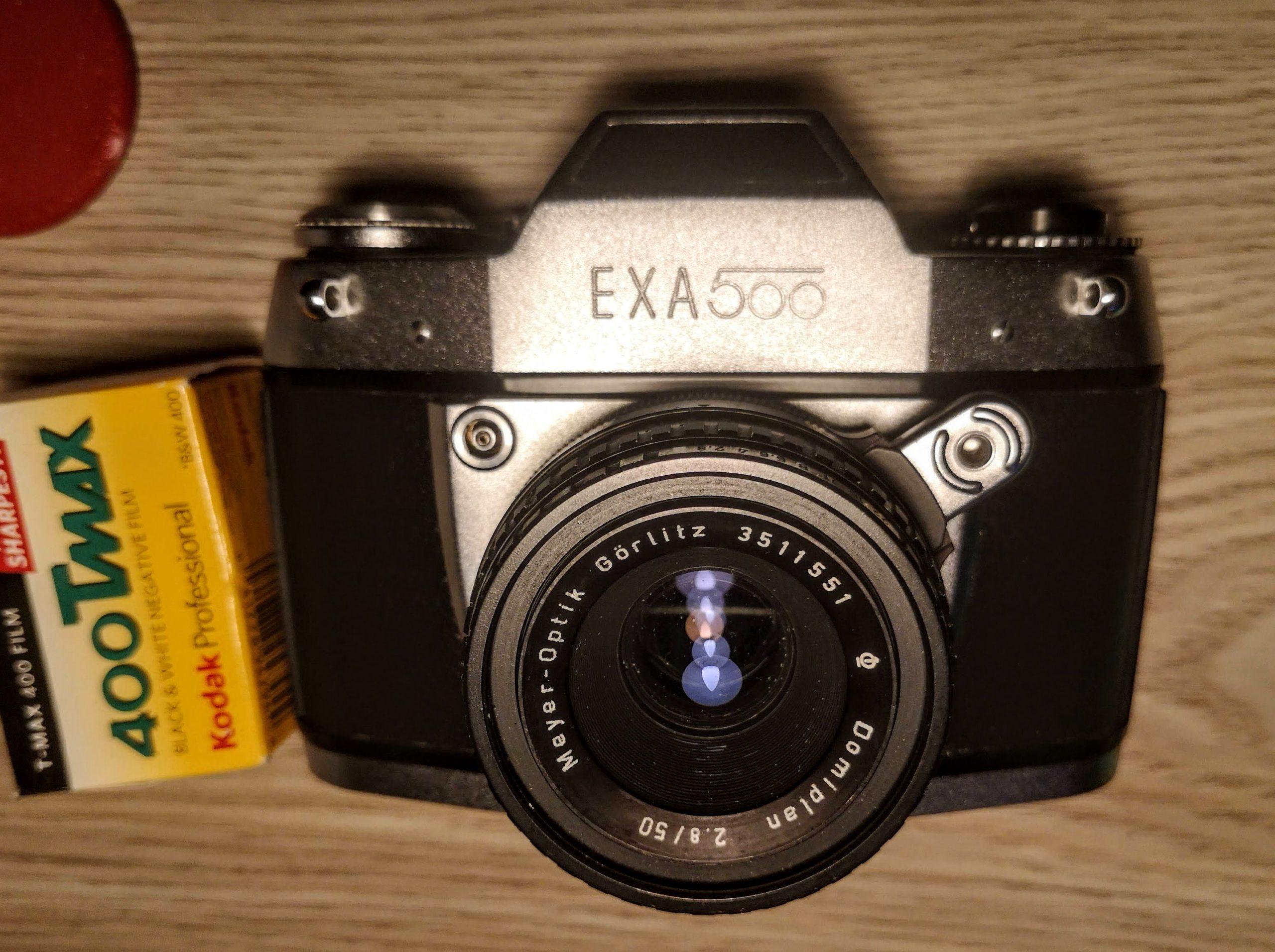 Exa 500 with a  Meyer-Optik Gorlitz Domiplan 2.8/50